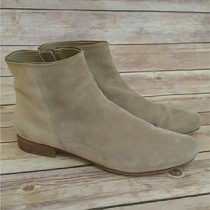 Dolce Vita gray tan suede zipper ankle booties